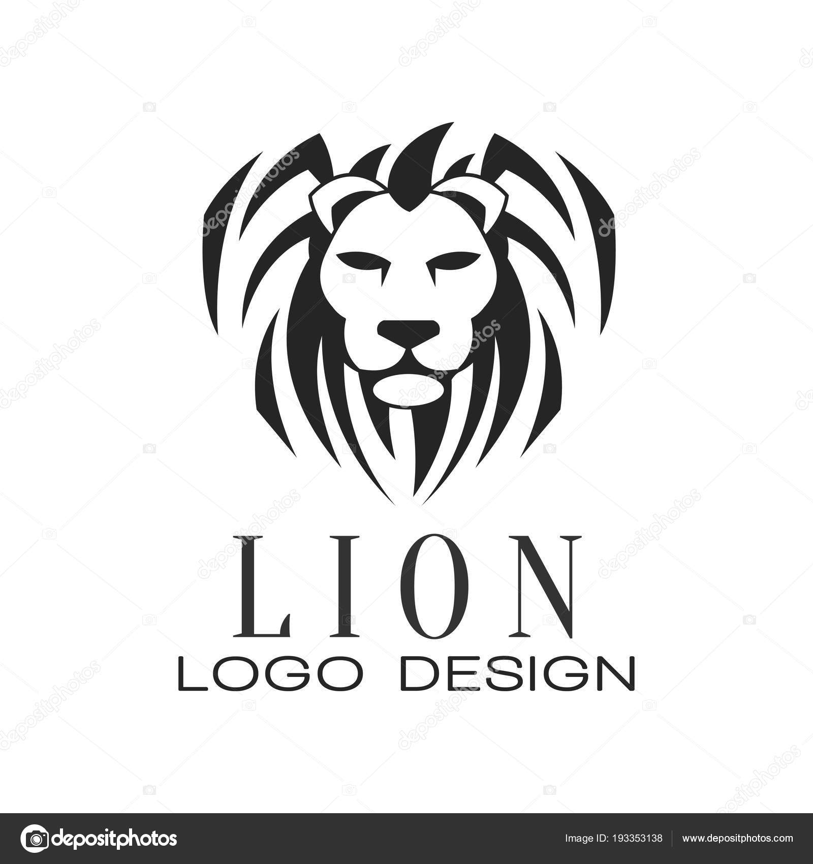 lion logo design element for poster banner embem badge tattoo t shirt print vector illustration isolated on a white background vector by topvectors