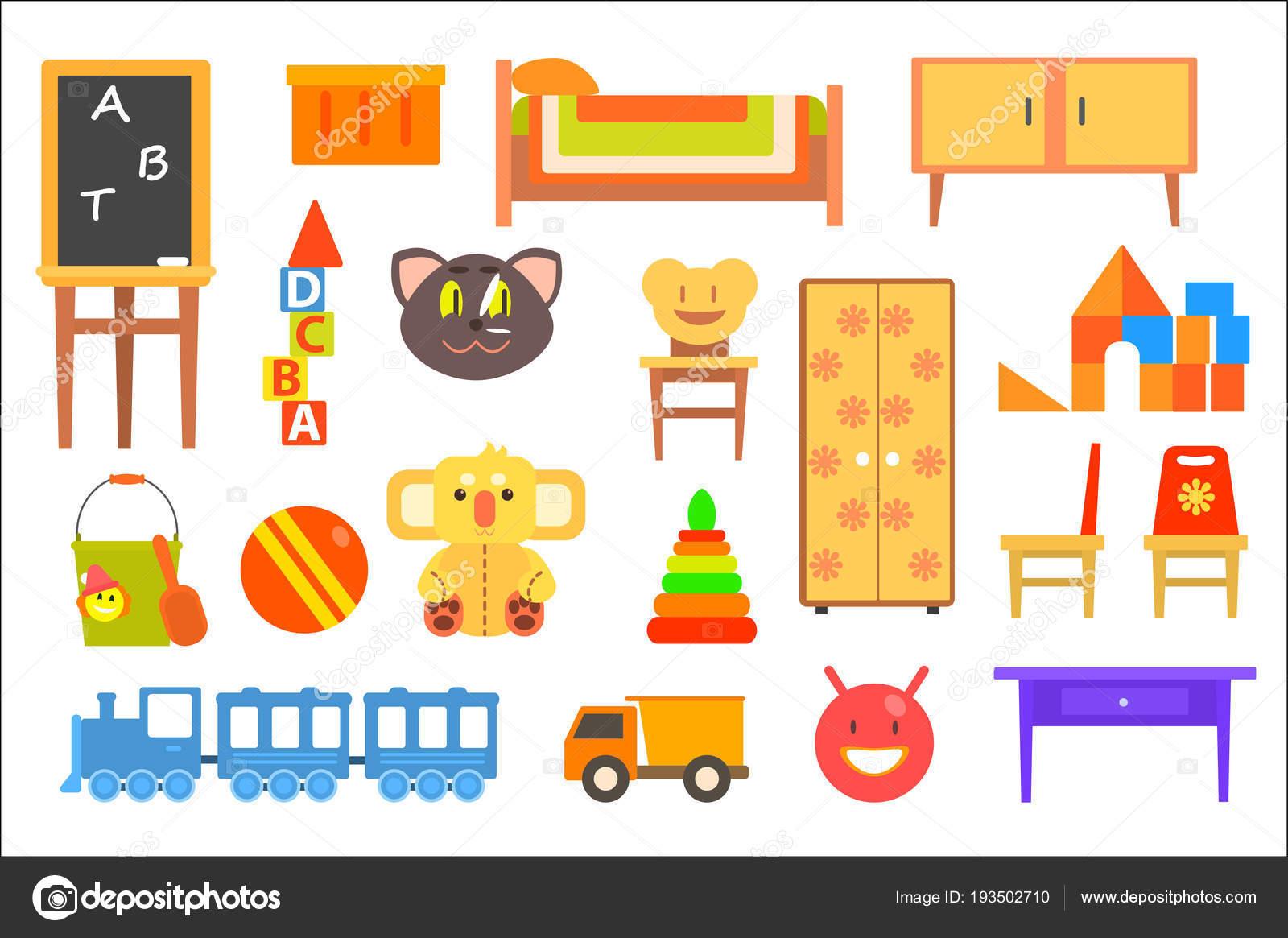 Muebles y juguetes para habitaciones de niños, jardín de infantes ...