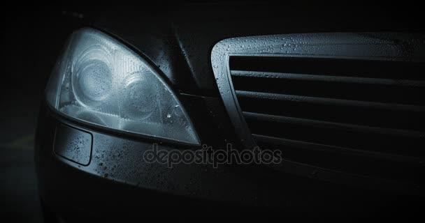 Černé Auto světlometů