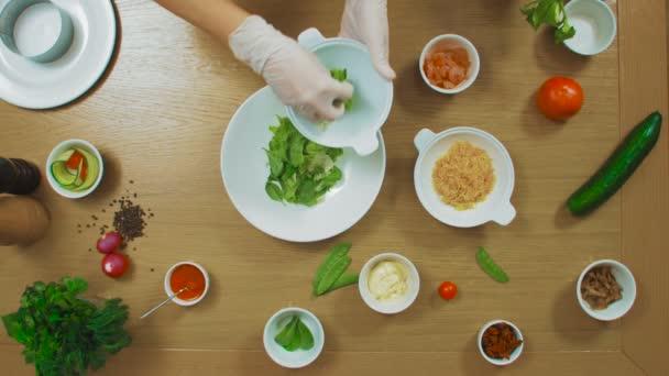Top view of female making salat