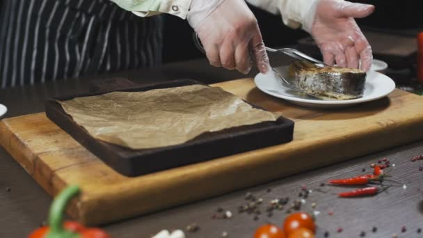 Fish Cooked and Served on a wooden board