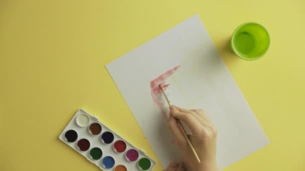 Frau Künstler Malerei Aquarelle