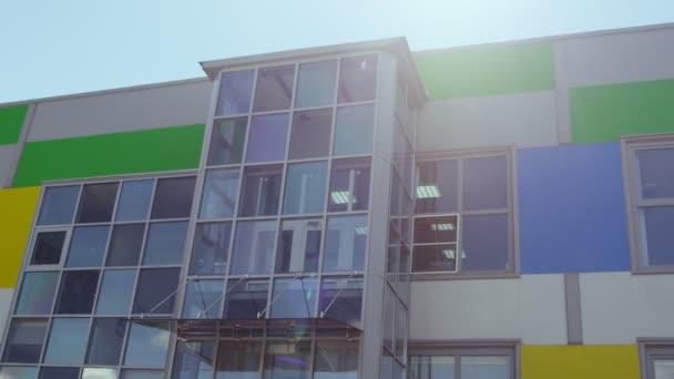 Moderní struktura budovy v městském městě