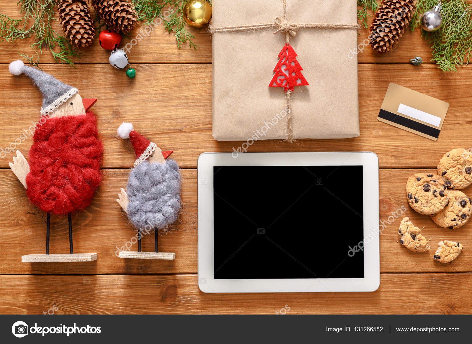Weihnachten Online-shopping-Hintergrund — Stockfoto © Milkos #131266582
