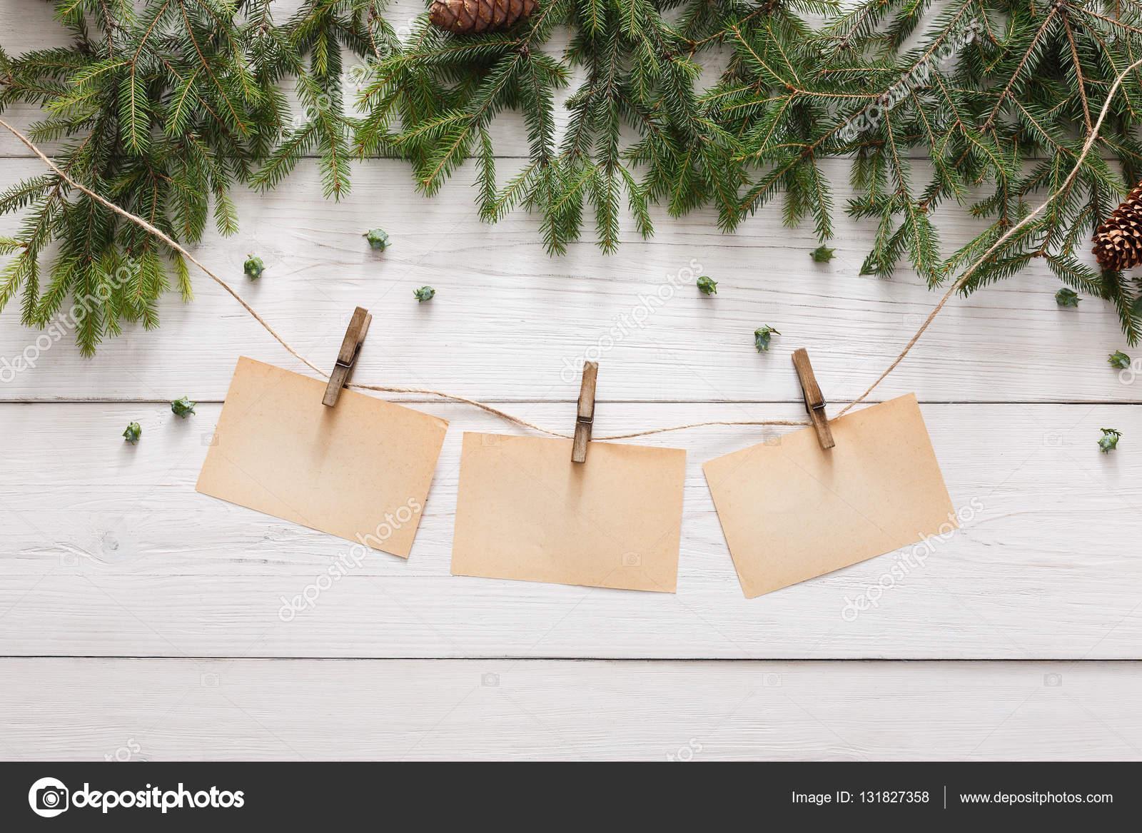 Decoración de la Navidad, ornamento y guirnalda de marco de fondo ...