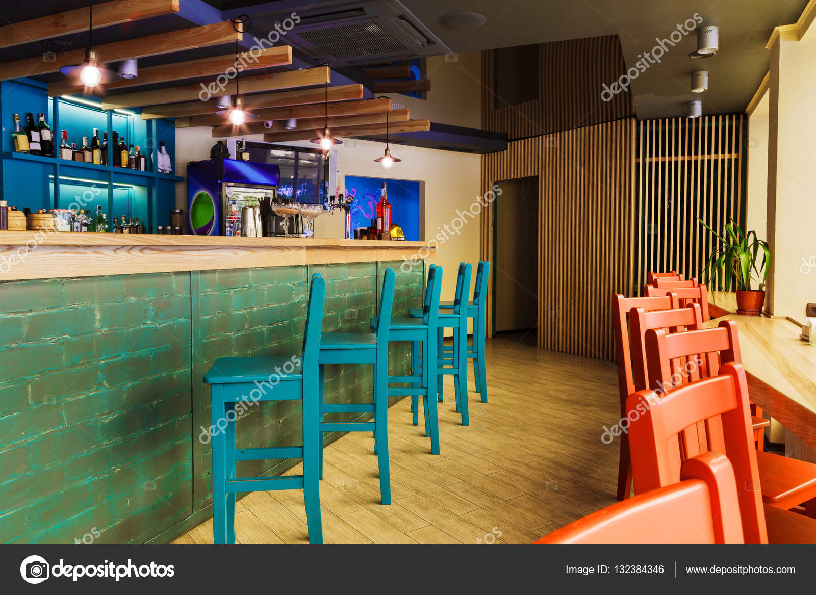 Modern Restaurant Bar Or Cafe Interior Stock Photo C Milkos 132384346