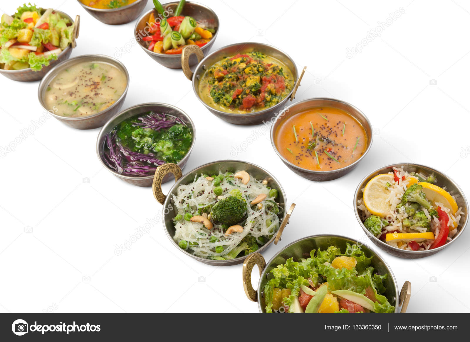 Vegane und vegetarische indische Küche warme würzige Gerichte ...