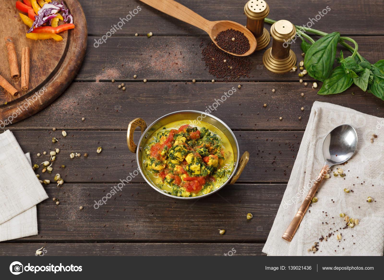 Vegane und vegetarische indische Restaurant Gericht, scharfes Curry ...