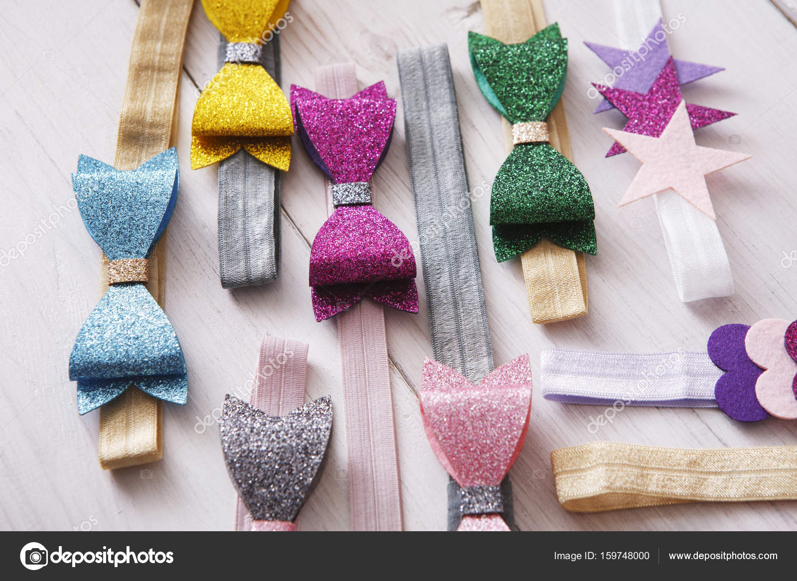 Sada barevné elastické čelenky zdobené — Stock Fotografie © Milkos ... c37a1aa569