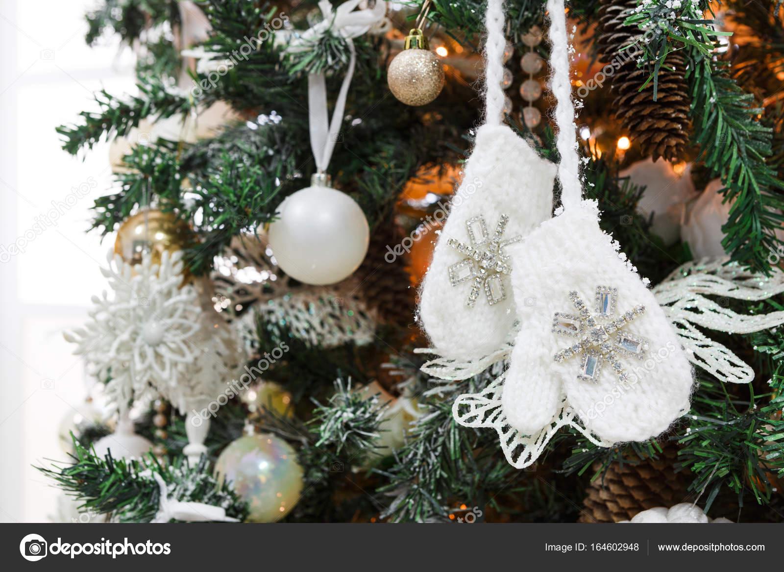 Moderne Weihnachtsbaum Dekoration Hintergrund Stockfoto