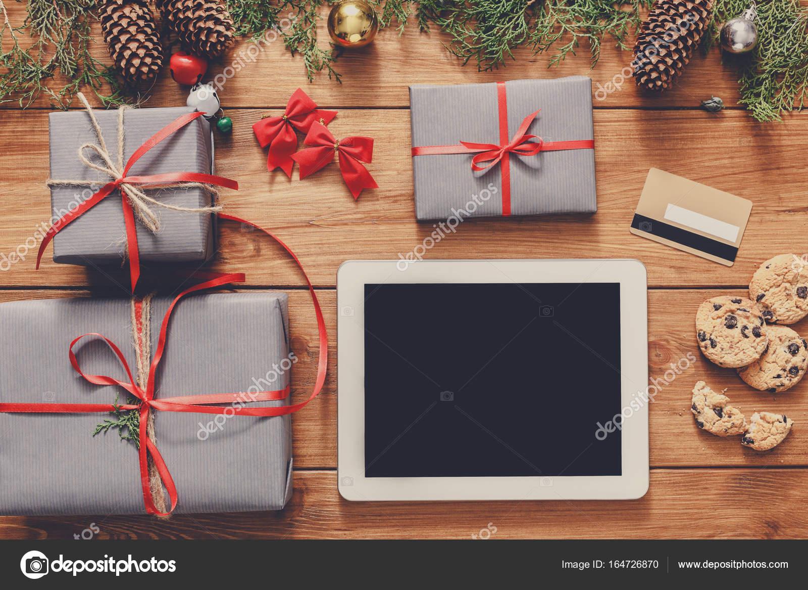 Weihnachten Online-shopping-Hintergrund — Stockfoto © Milkos #164726870