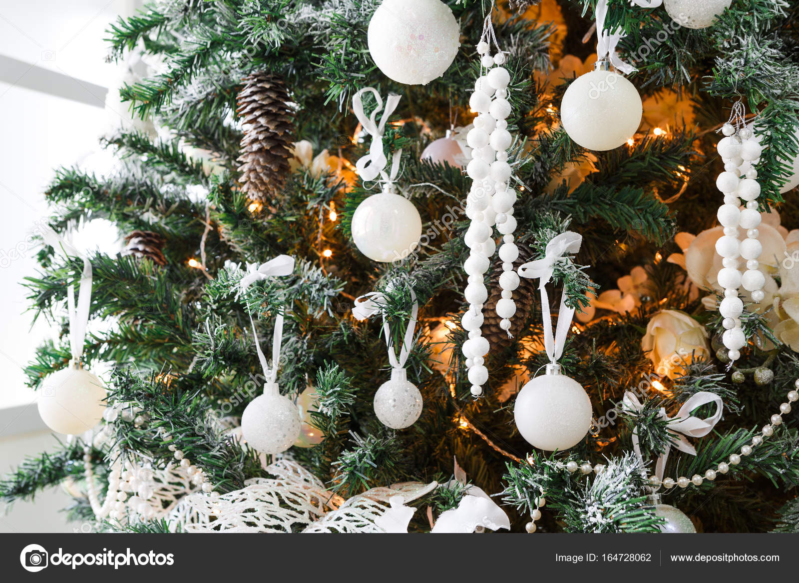Modern Christmas Tree Decoration Background Stock Photo Image By C Milkos 164728062