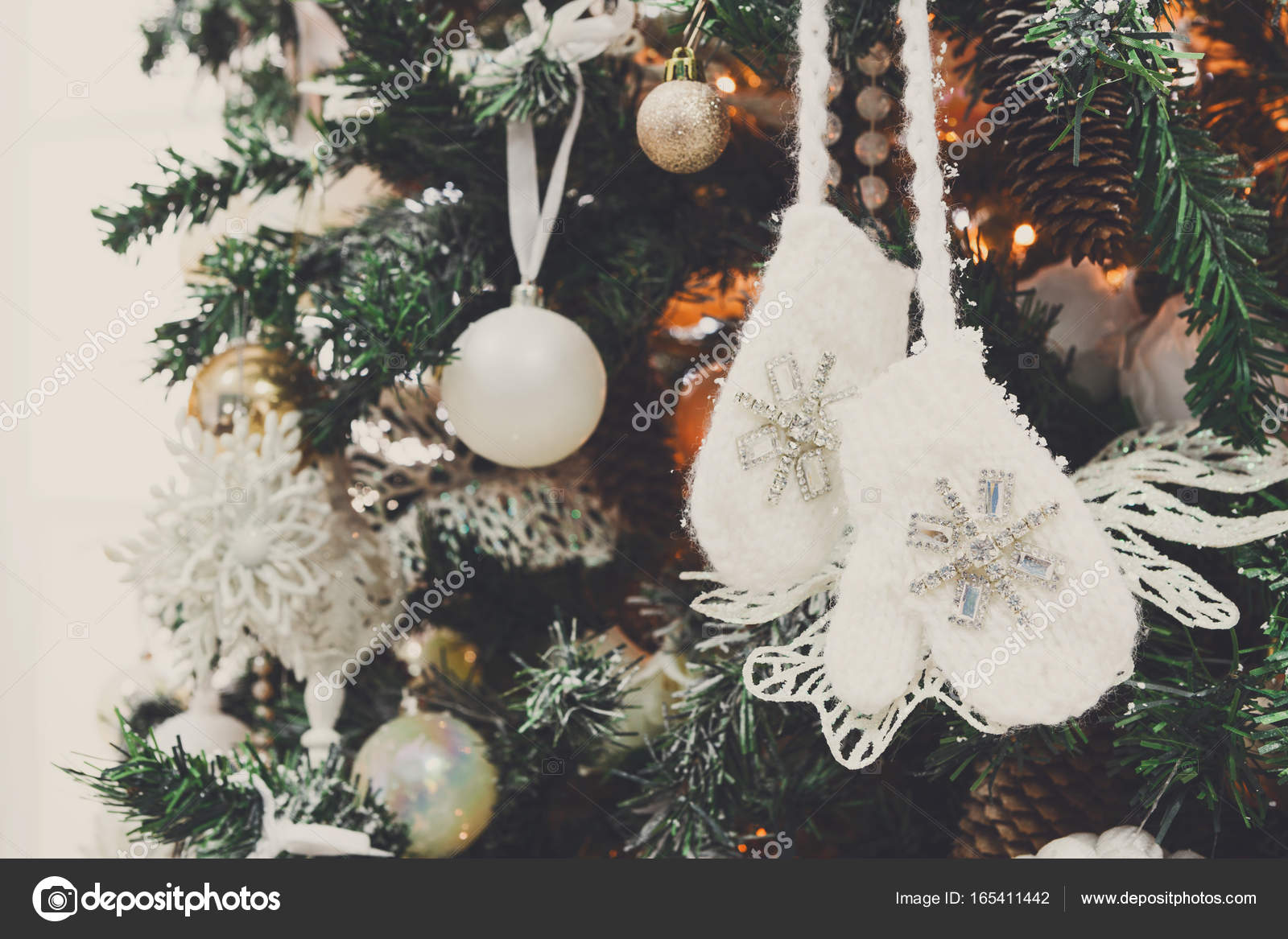 Modern Christmas Tree Decoration Background Stock Photo C Milkos 165411442