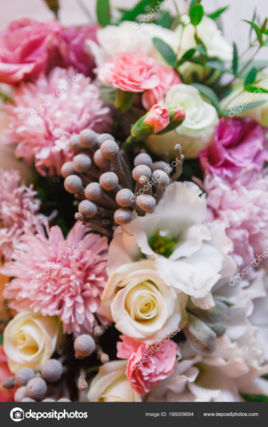 Hochzeit Blumenschmuck Blumen Blumenstrauss Closeup Stockfoto