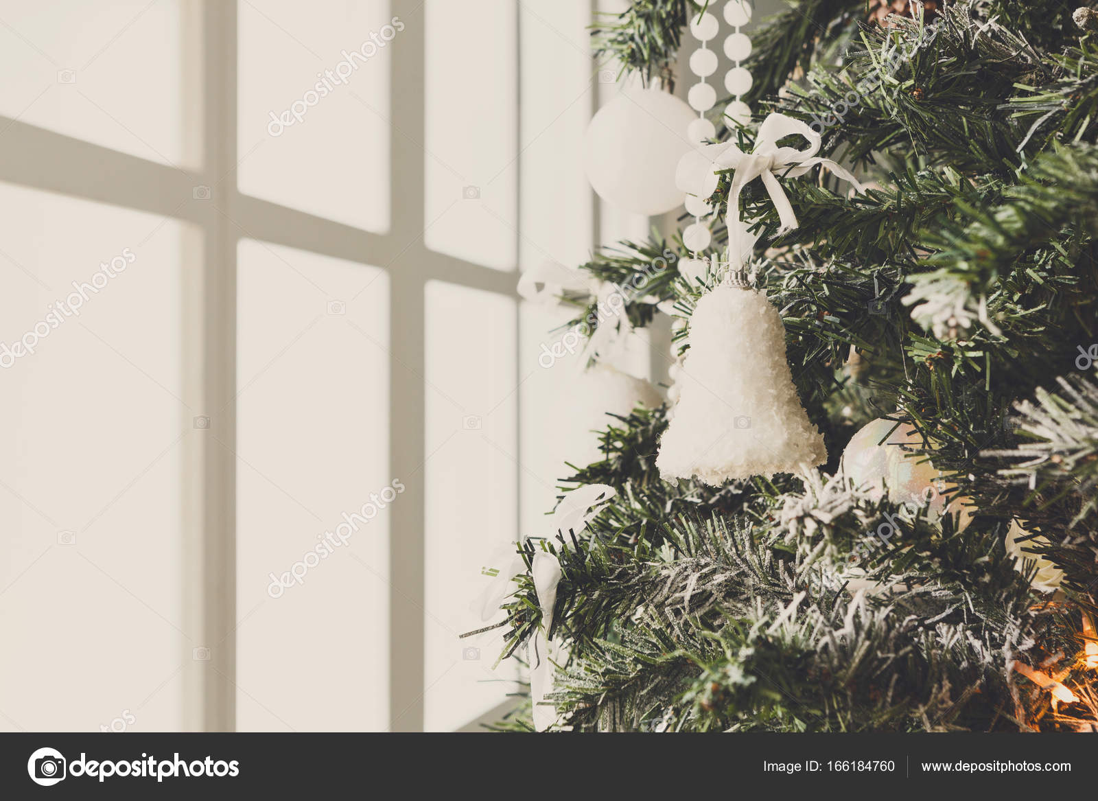 Modern Christmas Tree Decoration Background Stock Photo C Milkos 166184760