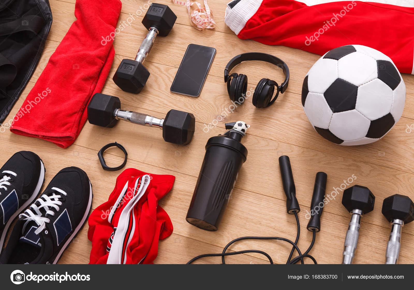 Training Fussball Und Sport Ausrustung Hintergrund