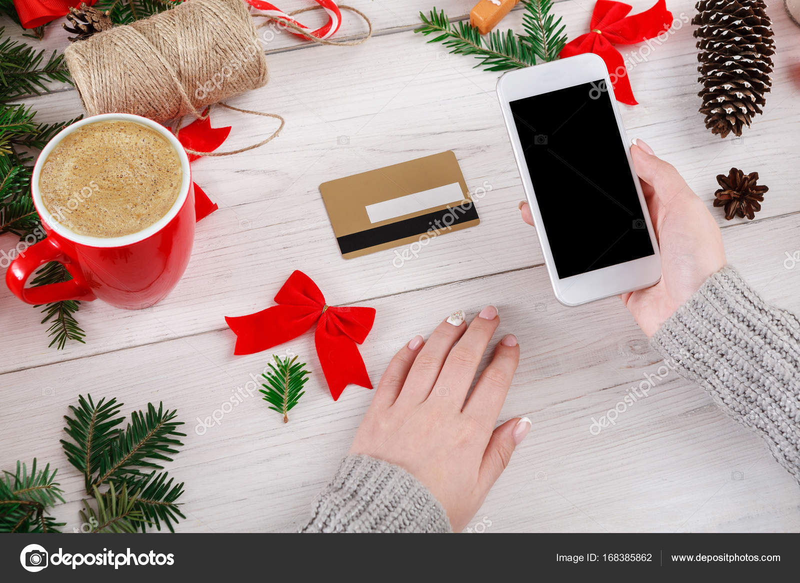 Weihnachten Online-shopping-Hintergrund — Stockfoto © Milkos #168385862