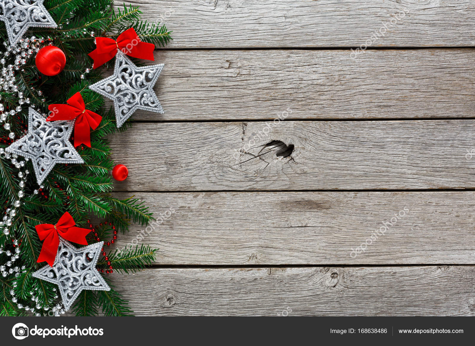 Fondo de marco de decoraci n adornos y guirnaldas de for Adornos navidenos 2017 trackid sp 006