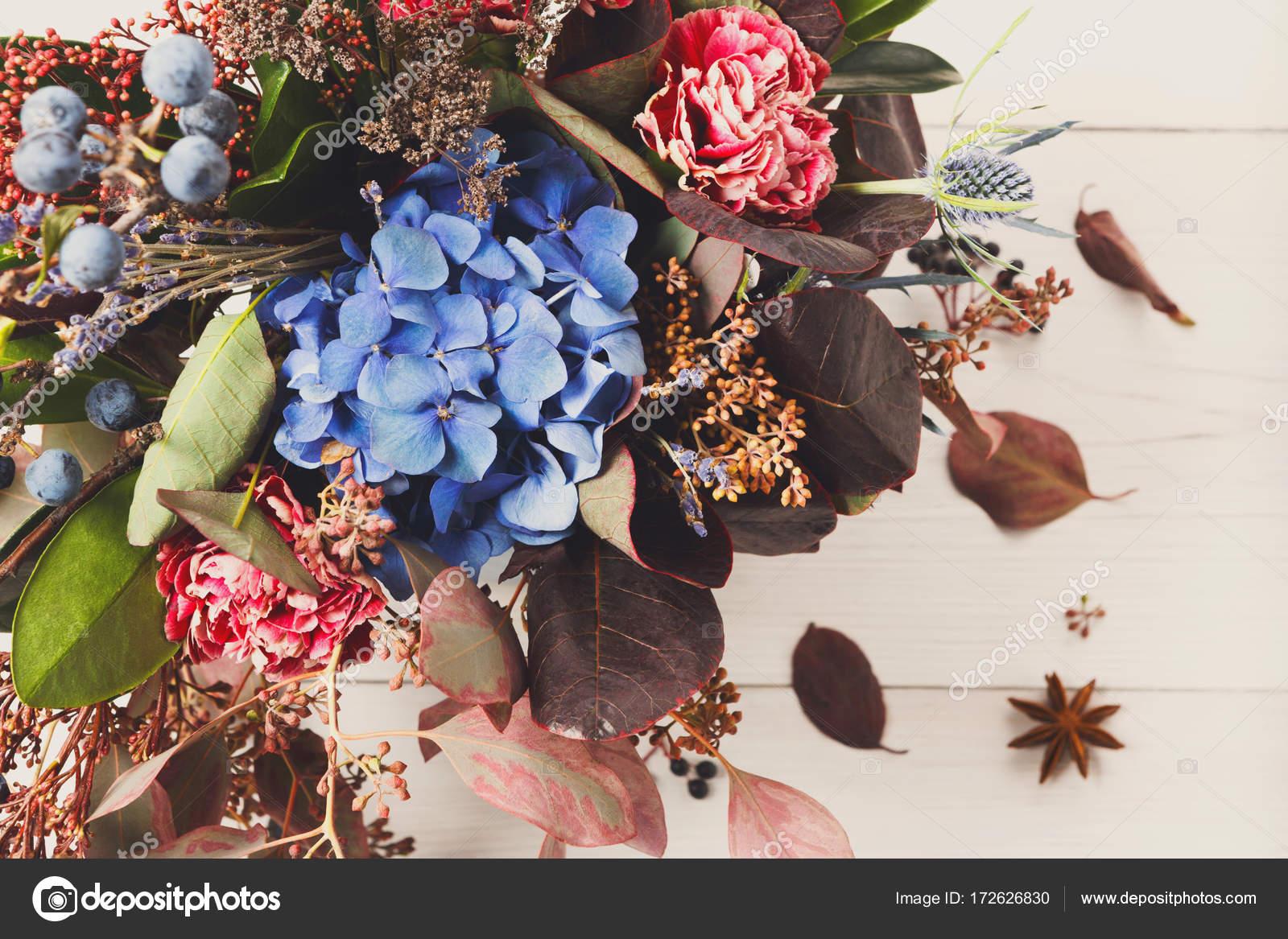 Belle automne composition de bouquet de fleurs séchées pré