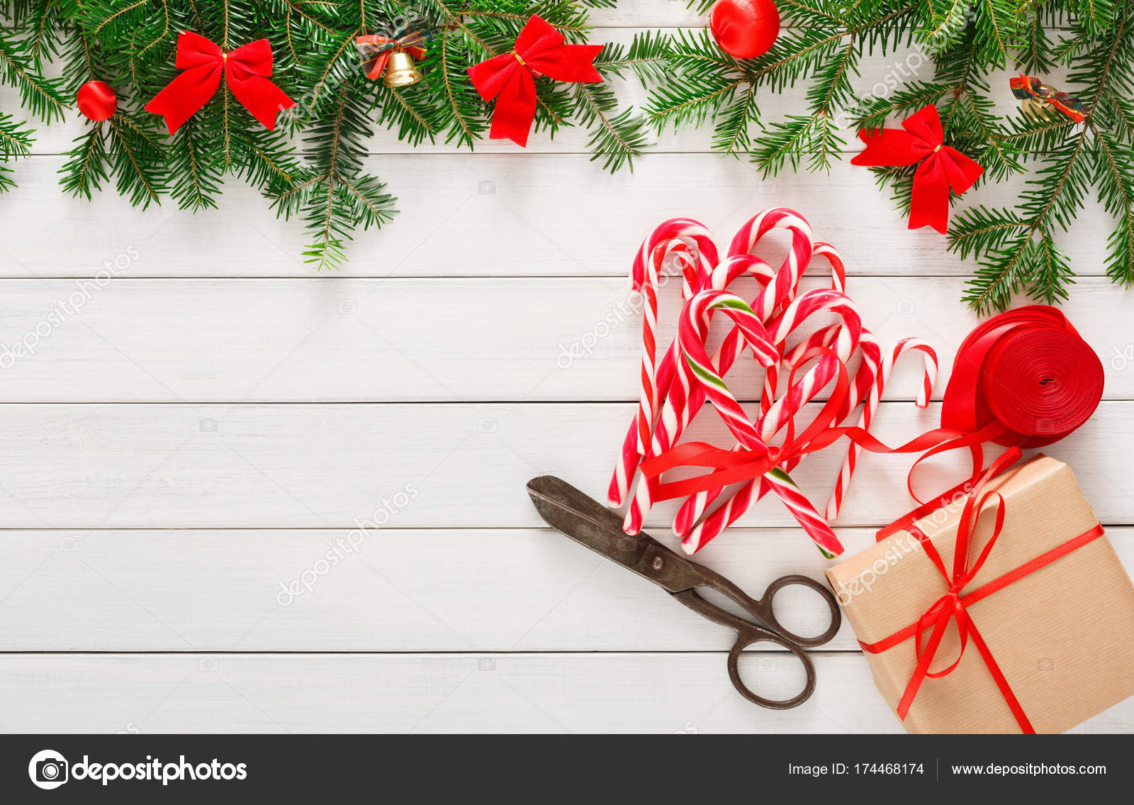 Creative hobby. Making christmas presents, top view — Stock Photo ...