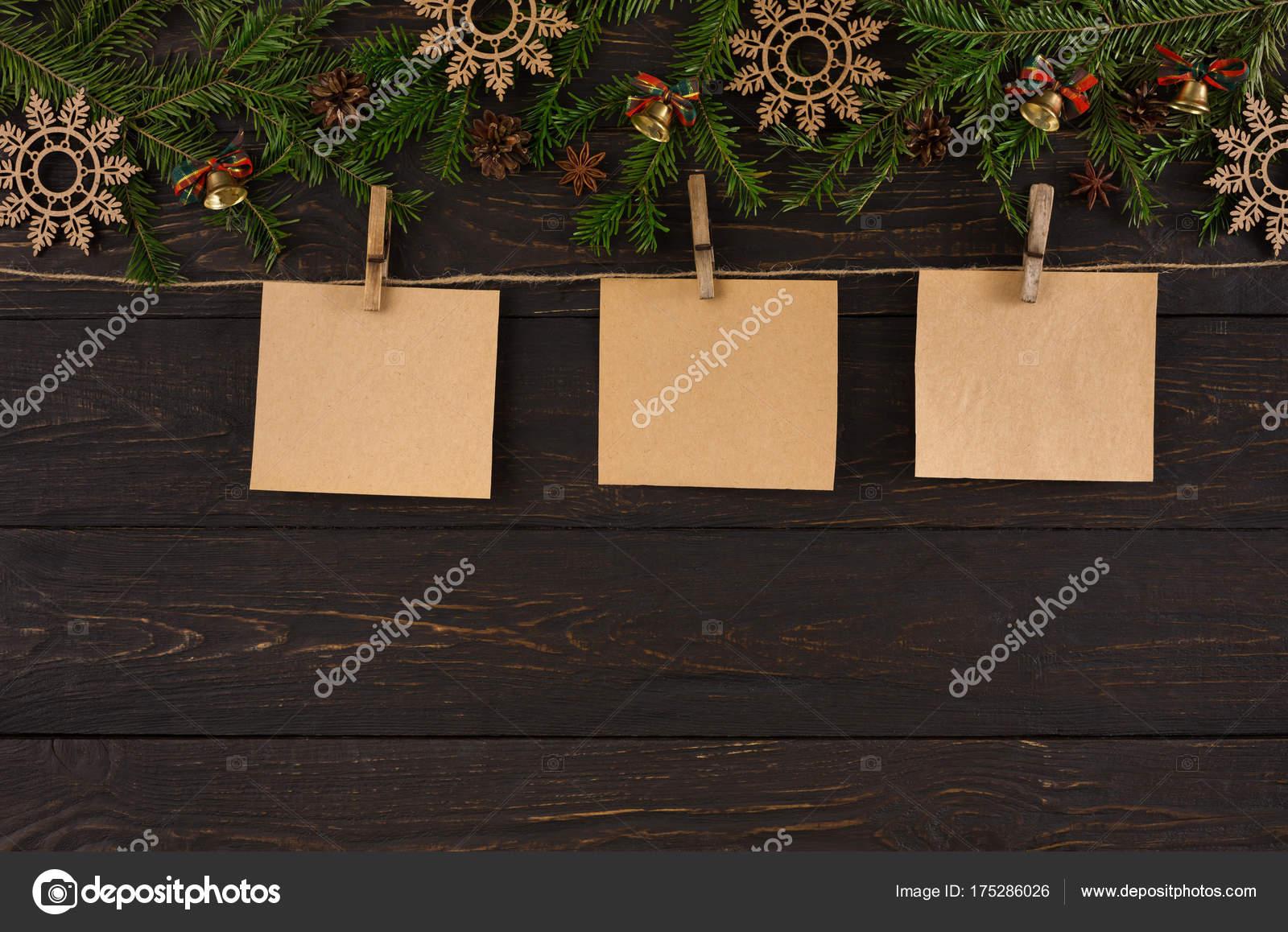 Tarjetas de Navidad decoración, ornamento y garland fondo de marco ...