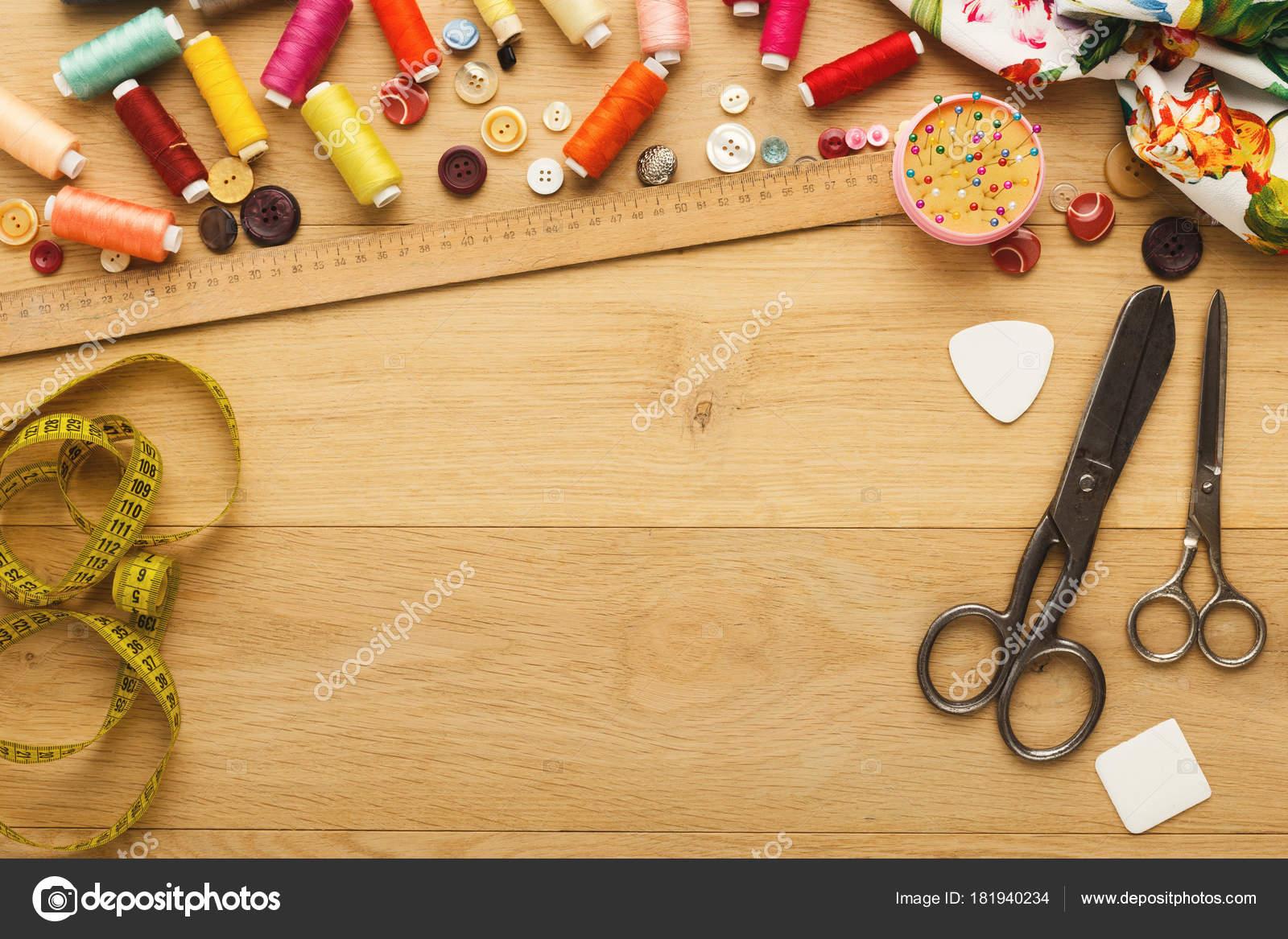 Creative Fashion Designer Table Top View Stock Photo C Milkos 181940234