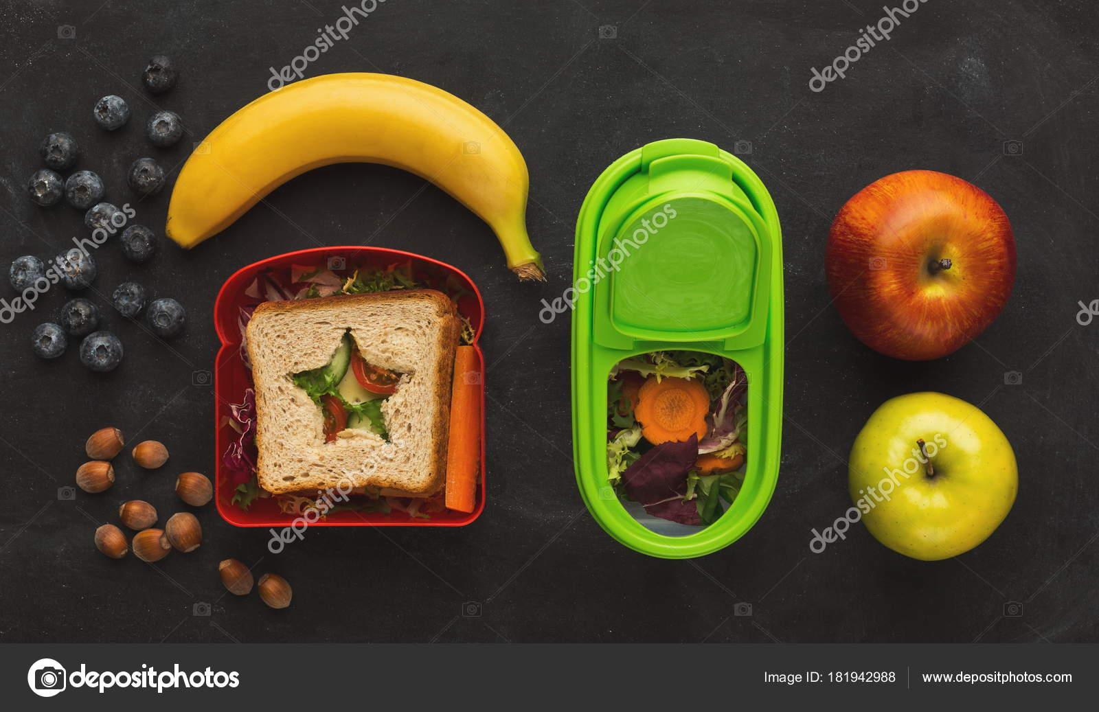 Spuntini Sani Per La Scuola : Scatole di pranzo per il bambino spuntino sano per cena scuola