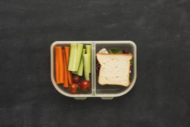 Lunch box for healthy take away dinner