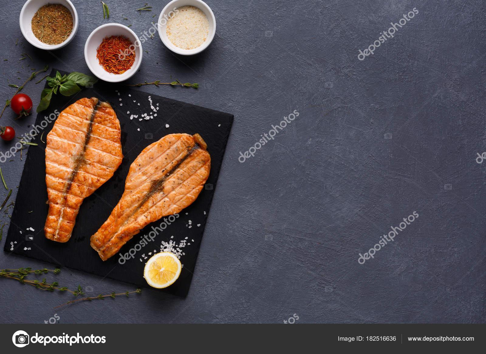 сочная красная рыба
