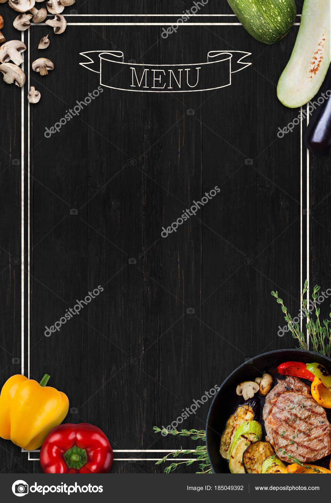 black chalkboard as mockup for restaurant menu stock photo
