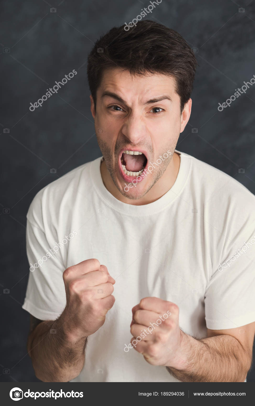portrait of angry crying man stock photo milkos 189294036