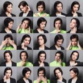 Női különböző érzelmek set