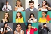 A fiatalok különböző pozitív és negatív érzelmek set