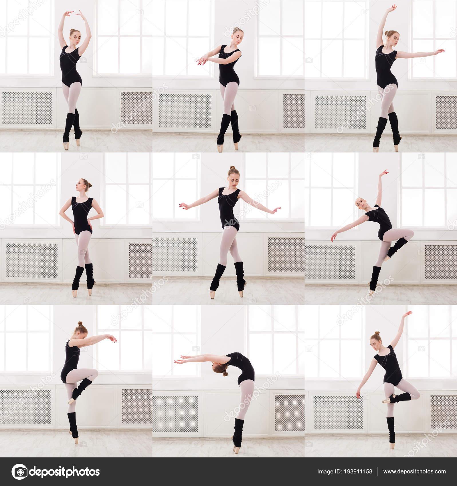 Set Of Young Ballerina Standing In Ballet Poses Stock Photo C Milkos 193911158
