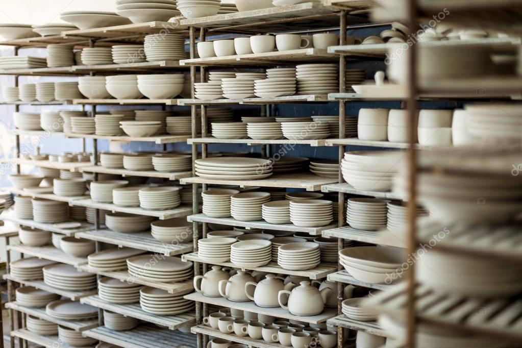 Clay crafts at pottery