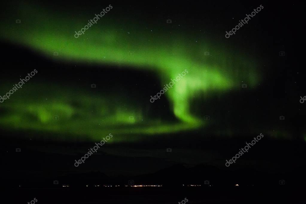 Northern lights over Hofn, Iceland