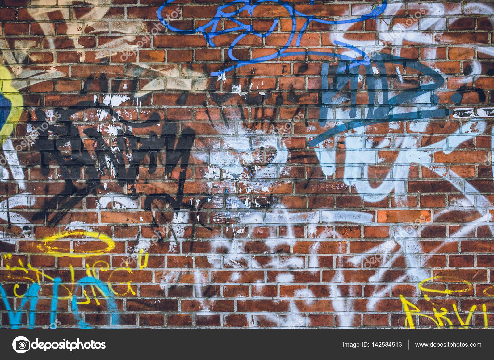 Graffiti Wall Texture Stock Photo C Kristinaponomareva 142584513