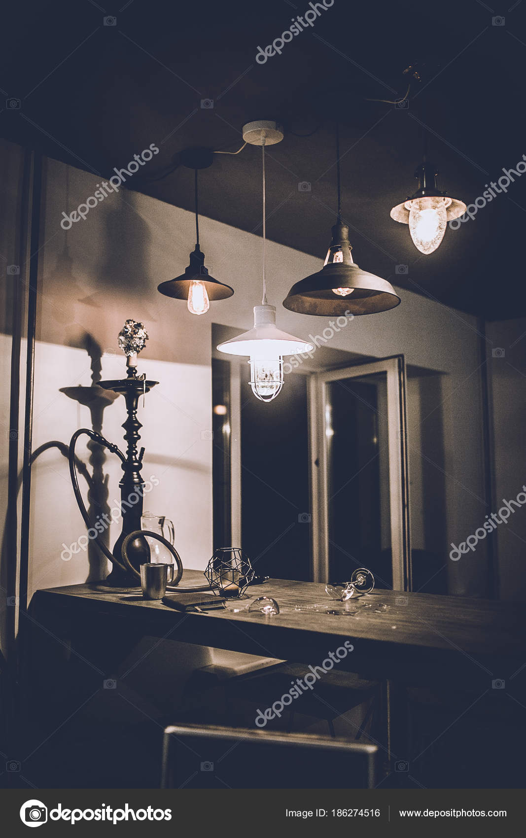 View Home Decor Loft Style Room Modern Lamps Lights Night