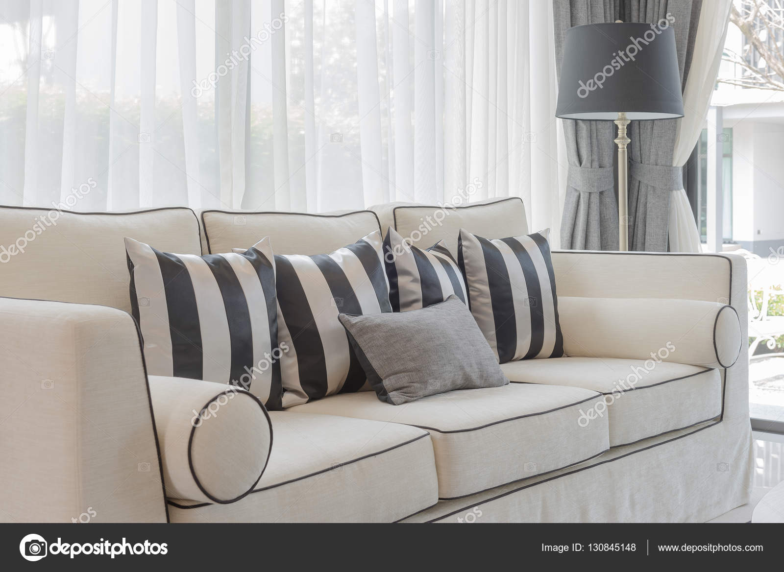 Prime White Elegance Sofa With Black And White Pillows In Luxury Bralicious Painted Fabric Chair Ideas Braliciousco