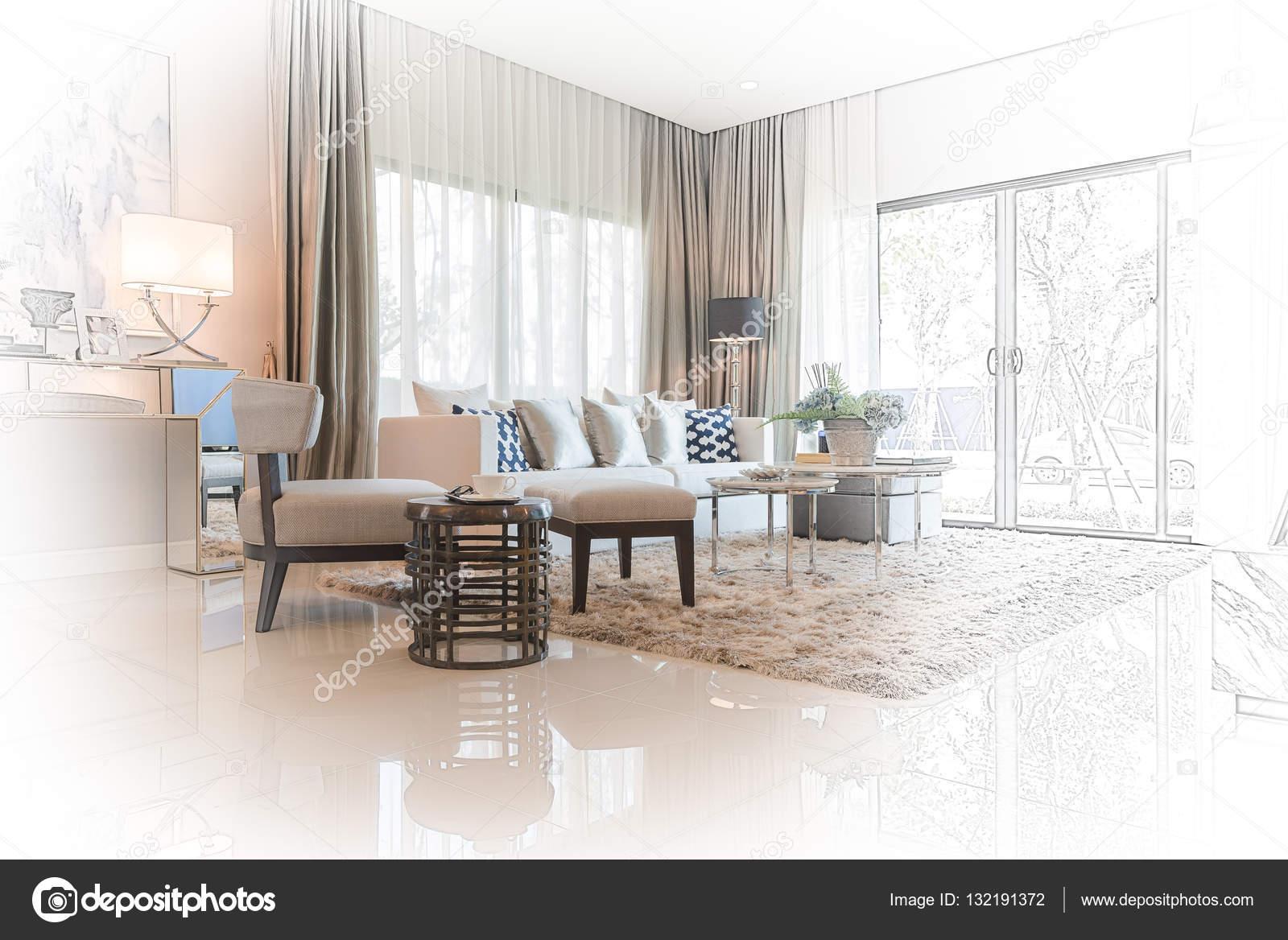 Inneren Skizze Design Der Modernen Wohnzimmer Mit Moderner