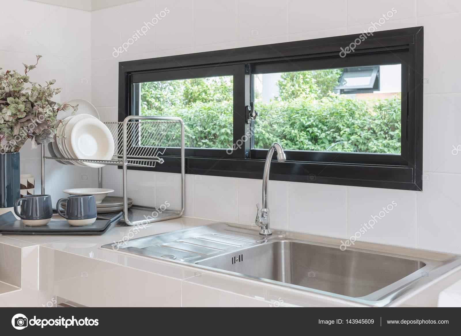 Projeto De Sala Cozinha Moderna Com Torneira E Pia Fotografias De
