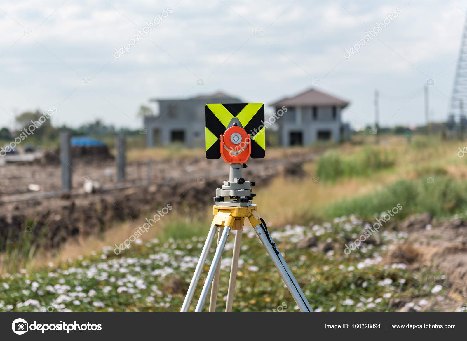 Civil Engineering And Construction Projects With Survey Equipment Tacheometer Or Theodolite Outdoors At Site Photo By Khongkitwiriyachan