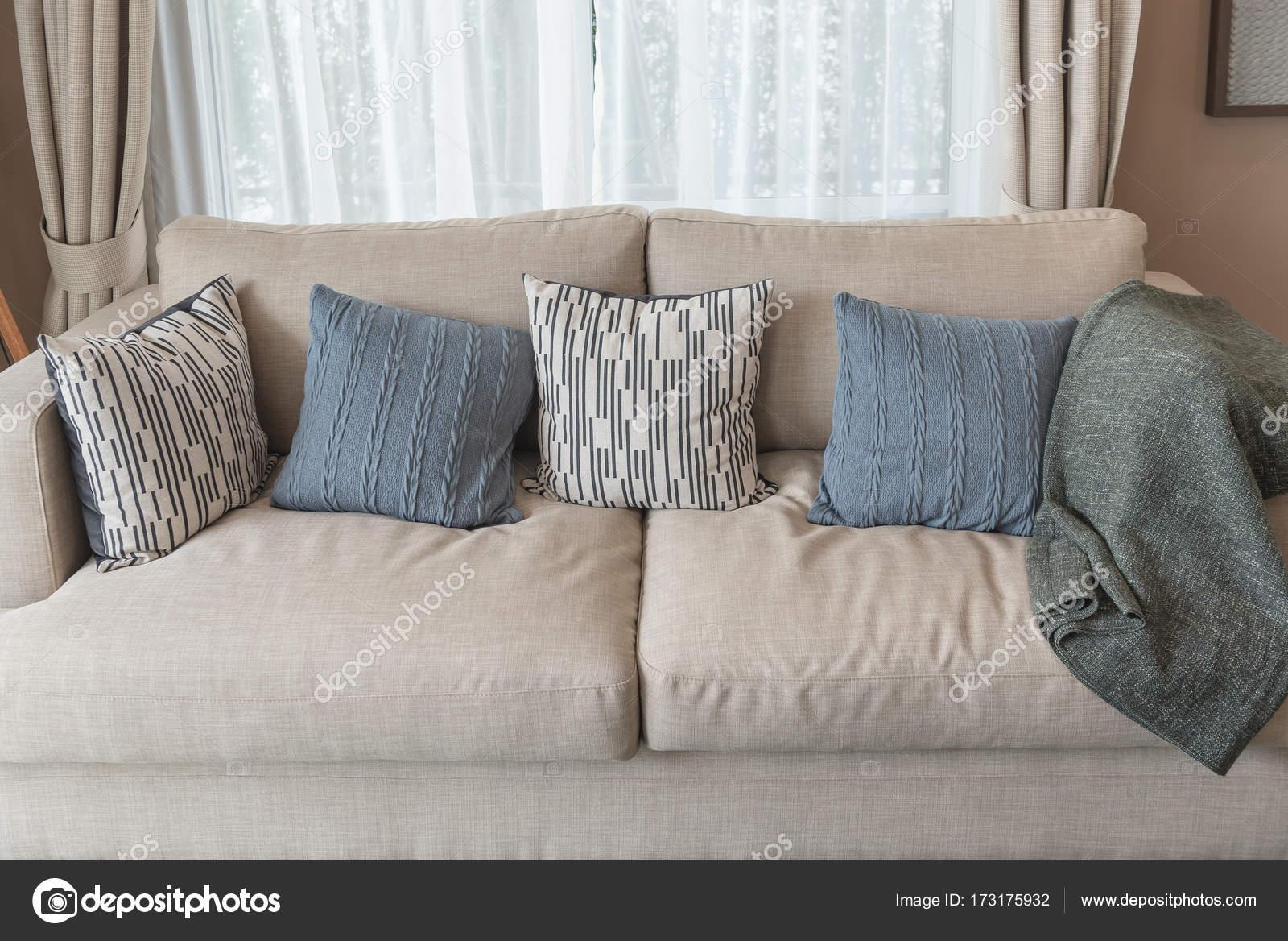 Moderne Wohnzimmer Stil Mit Braunen Modernes Sofa U2014 Stockfoto