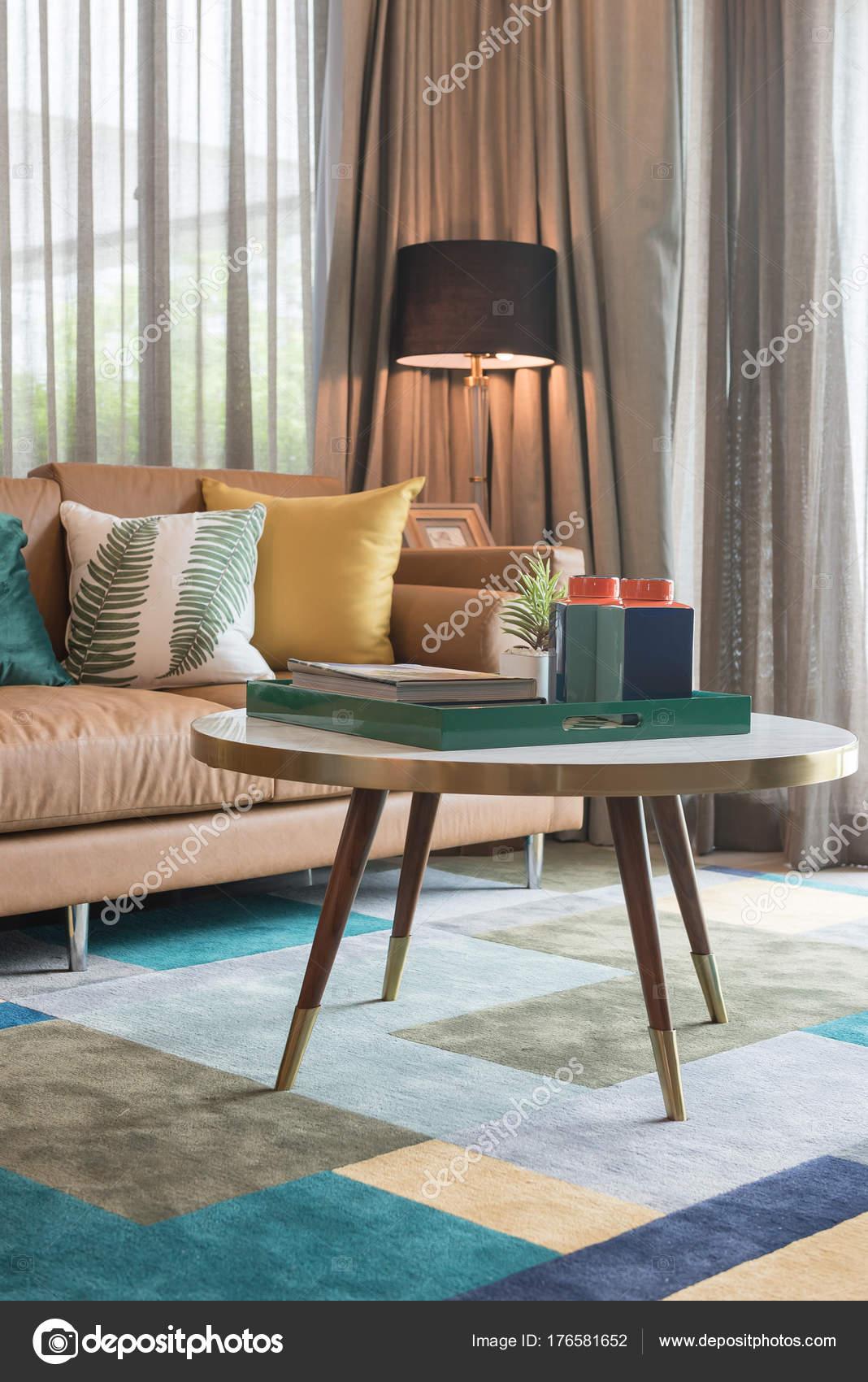 Moderne Wohnzimmer Stil Mit Kissen U2014 Stockfoto