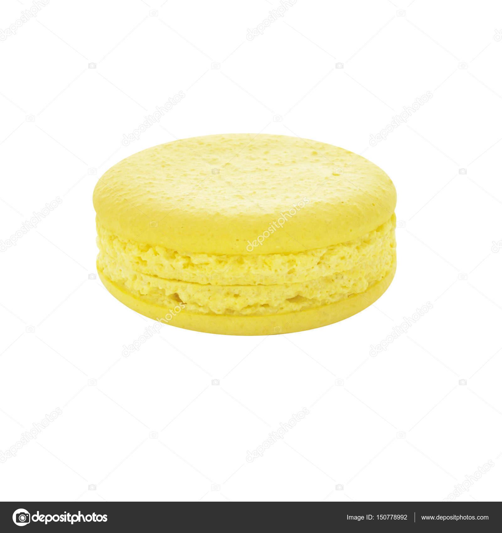 macaron citron arôme couleur biscuit dessert jaune — photographie