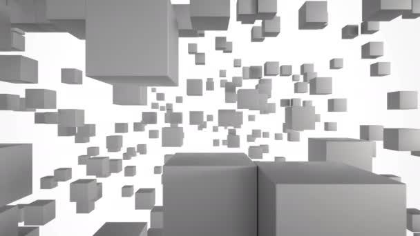 Abstraktní pozadí s kostkami. Možné animace opakovat