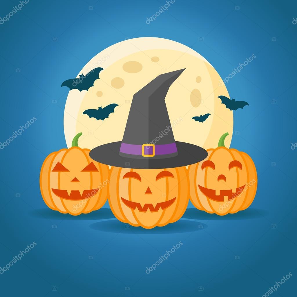 Disegno di Halloween con le zucche 4aa6fe78dc24