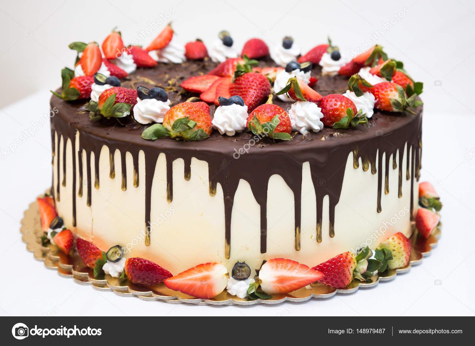 Wondrous Pictures Strawberry Birthday Cake Strawberry Birthday Cake On Funny Birthday Cards Online Overcheapnameinfo