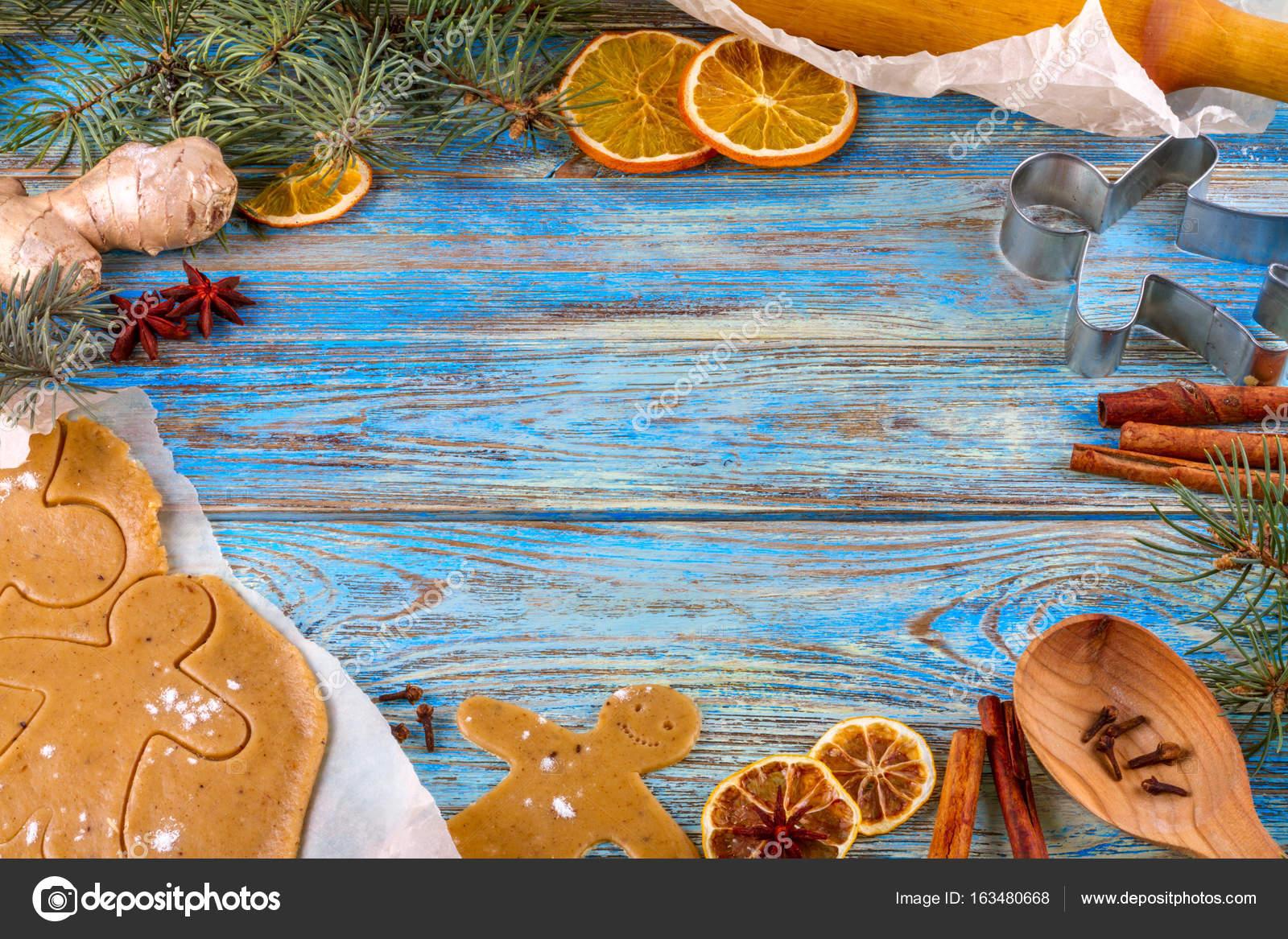 Weihnachten Stillleben Hintergrund mit Lebkuchen im Rahmen der ...