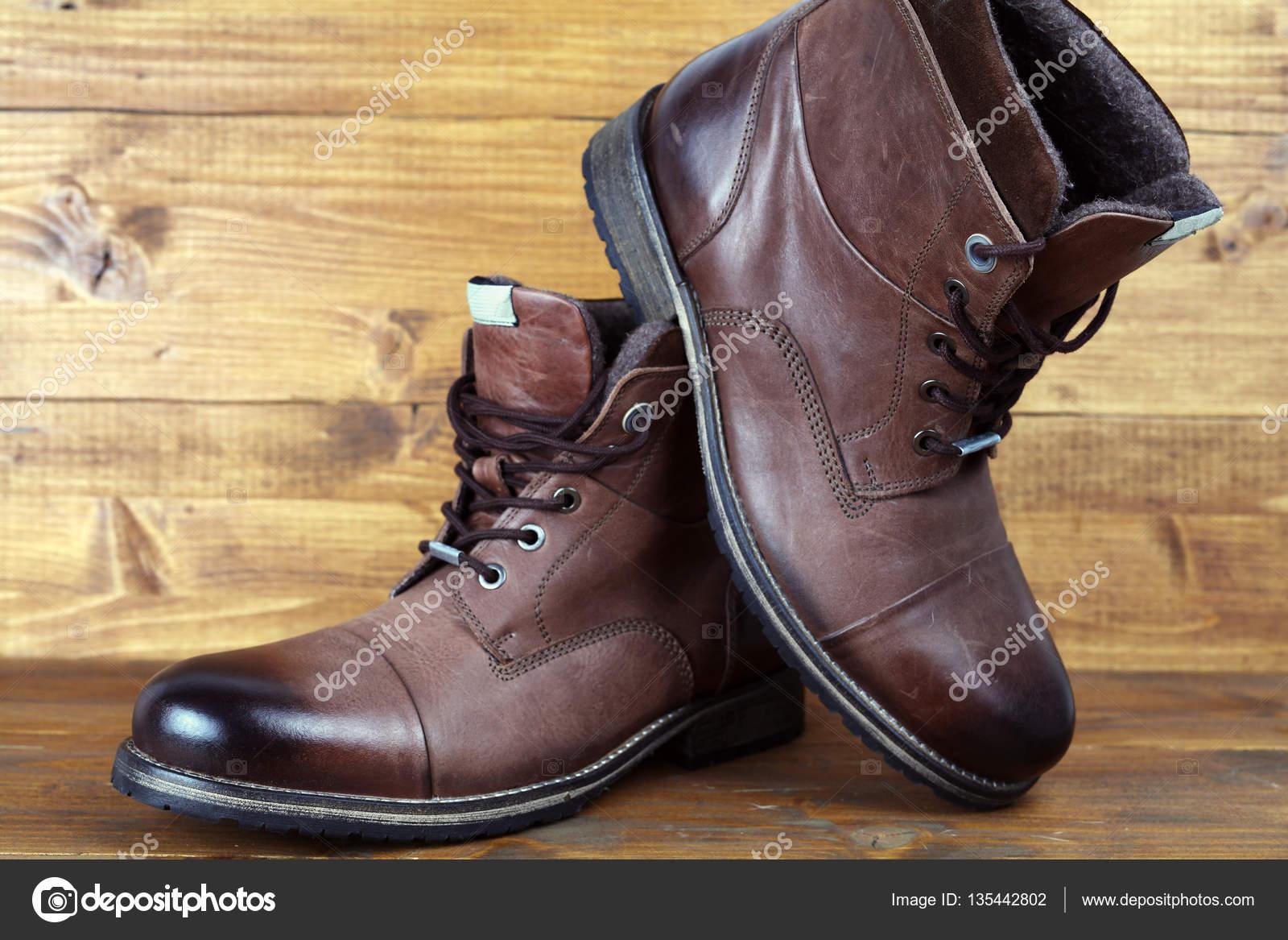 Invierno Vintage Hombre Cuero De Zapatos Para Botas Marrón Altas wTITxz8q